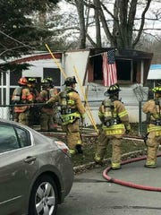 The mobile home of a 100-year-old South Brunswick resident was destroyed in an Easter Sunday fire.