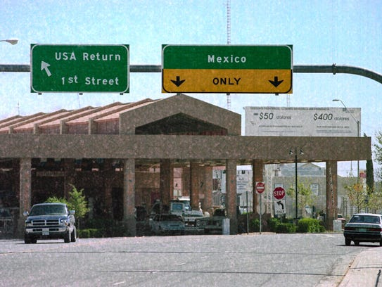 The U.S.-Mexico border crossing at Douglas, Ariz. and