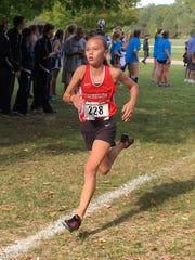 Pinckney's Vivi Eddings was county Runner of the Year as a freshman.
