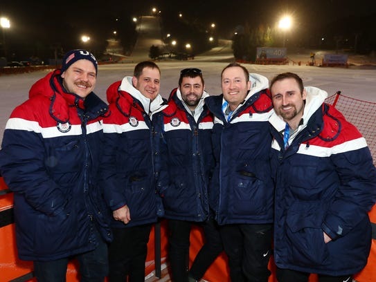 U.S. Olympic curlers (from left) Matt Hamilton, John Shuster, John Landsteiner, Tyler George and Joe Polo are hoping for redemption at the 2018 Winter Games.