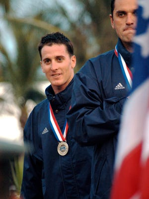 "From 2004: Chad Senior (left), a member of the U.S. Army World Class Athlete Program from North Fort Myers, stood alongside gold medalist Vakhtang ""Vaho"" Iagorashvili after winning the silver medal in men's modern pentathlon in the 2003 Pan American Games at Santo Domingo, Dominican Republic. Both men will compete for Team USA in the 2004 Olympic Games at Athens, Greece."
