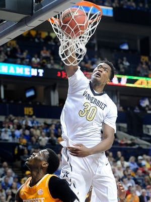 Vanderbilt's Damian Jones and the current Commodores will make their postseason debut in the NIT Wednesday at Saint Mary's.