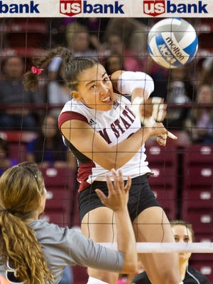 New Mexico State senior and Gadsden High alum Nathalie Castellanos completed her career on the Aggies' unbeaten run through the WAC in 2015.