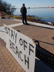 Wayne Bowker of Thorofare looks at the Delaware River