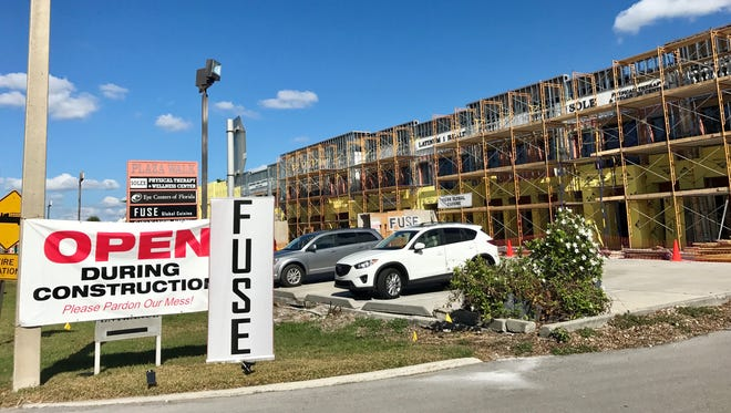Fuse is open for lunch and dinner while its retail center undergoes a façade facelift at 2500 U.S. 41 N. in Naples.