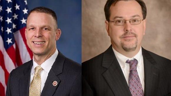 U.S. Rep. Scott Perry, left, and Carlisle attorney
