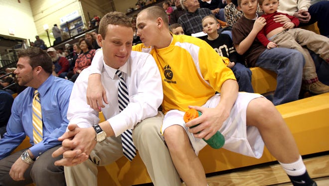 Tyler Stotler, shown here while an assistant coach at Monroe Central, was named head coach at Daleville.