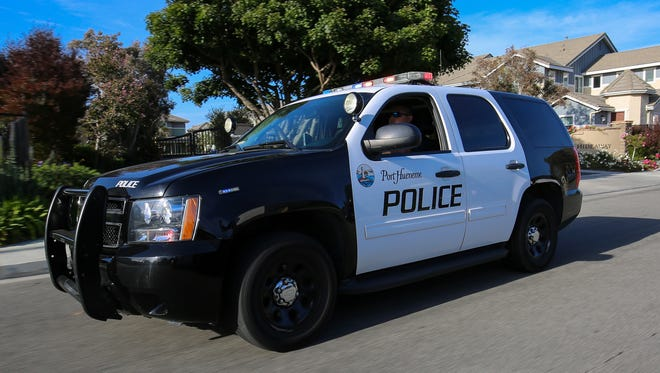 Stock image of Port Hueneme police car.