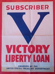 A poster from the fifth and final WWI bond drive, this one for the Liberty Loan drive.