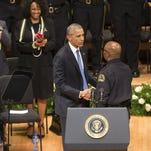 President Obama in Dallas.