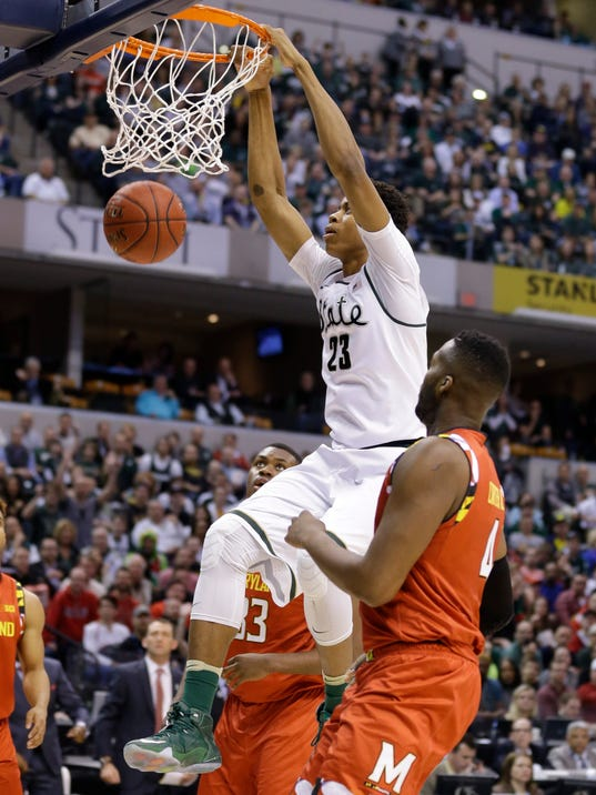 Deyonta Davis has shot to shine for 2nd-seeded Spartans