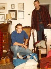 Morgan Hartman prepares to hunt with his father, Roger