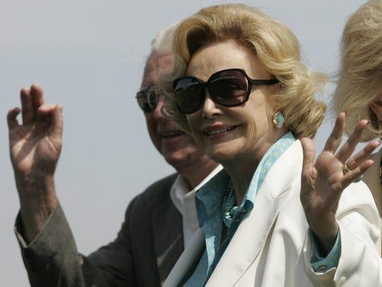 Barbara Sinatra at the El Dorado Polo Club in Indio