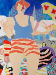 """Anita Putnam's """"Fresh Paint"""" is one of 188 pieces displayed"""