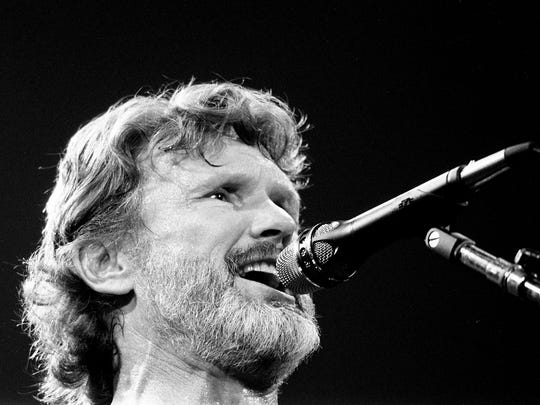 After introducing some of his newly composed songs, Kris Kristofferson follows with his big hits for the packed Municipal Auditorium during the Volunteer Jam XI Feb. 2, 1985.