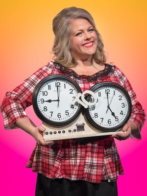 """Geri Ann Higgins serves as the narrator for Lyric Theatre Company's """"9 to 5 The Musical."""""""