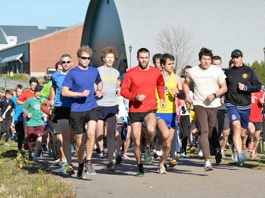 Running in Burlington's annual Turkey Trot is a Thanksgiving for serious competitors and casual runners alike