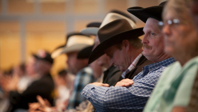 Attendees listen to concerns over the use and control of BLM lands at the House Natural Resources committee Hearing Friday, Jan. 22, 2016.