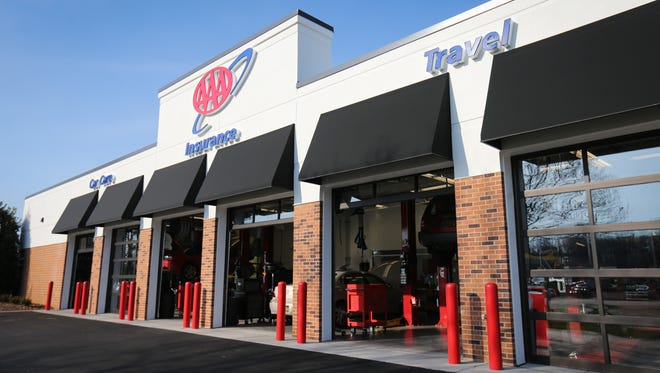 The AAA Car Care, Insurance and Travel Center in Dover features eight bays for oil changes, car repair and other services.