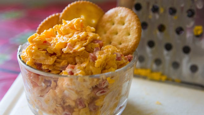 Pimento Cheese with crackers.