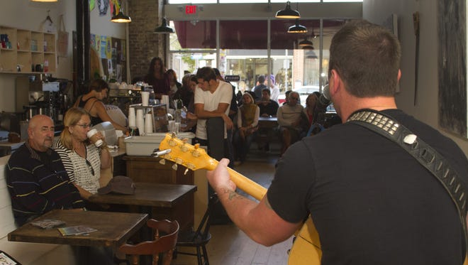 Christ Brown performs at Cafe Volan on Bangs Ave in Asbury Park during an Asbury Underground.