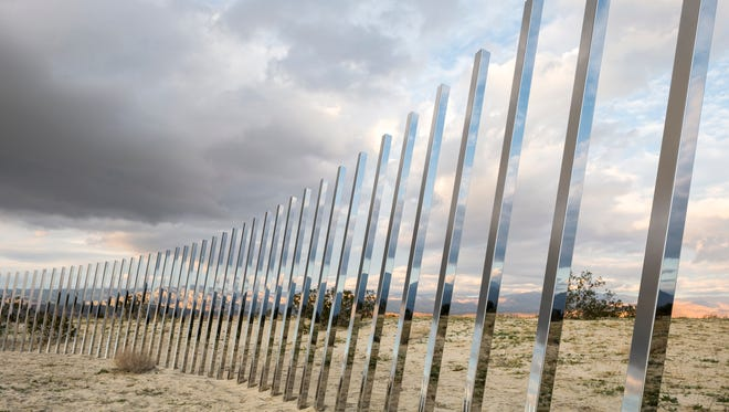 """Phillip K. Smith's """"The Circle of Land and Sky"""" debuted at the inaugural Desert Biennial's Desert X exhibition, a series of site-specific work by international artists exhibited across the Coachella Valley. The 2019 Desert X is set for Feb. 9 through April 21."""