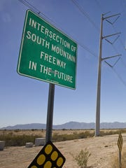 Initial work on the 22-mile-long South Mountain Freeway
