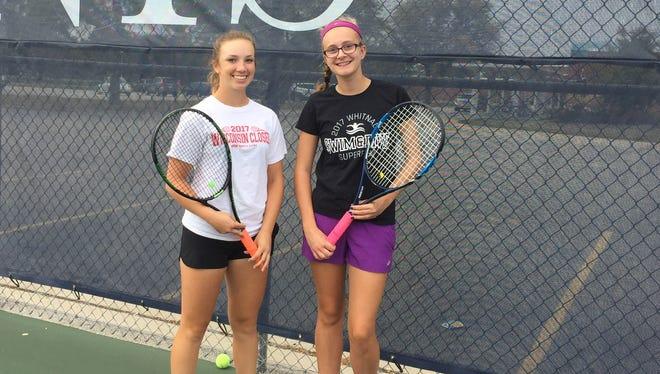 Freshmen Autumn Bruno (left) and Jenna Dundas have helped Whitnall make history this season.