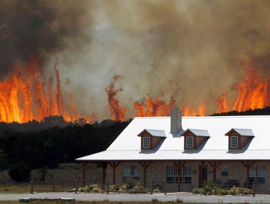 AP  YE Texas Wildfires