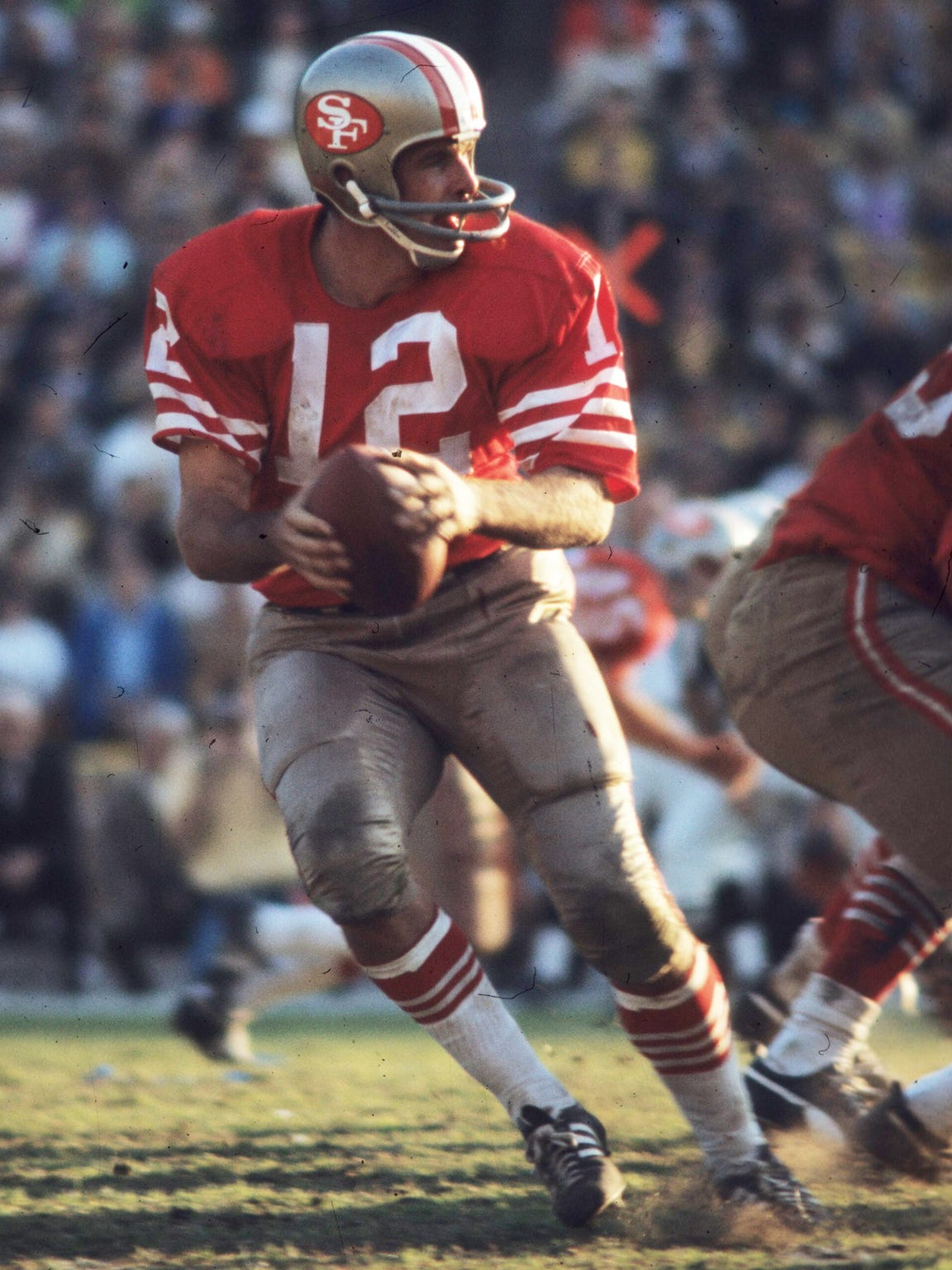 John Brodie played quarterback in the NFL for 17 years and was named the league MVP in 1970 while playing for the San Francisco 49ers