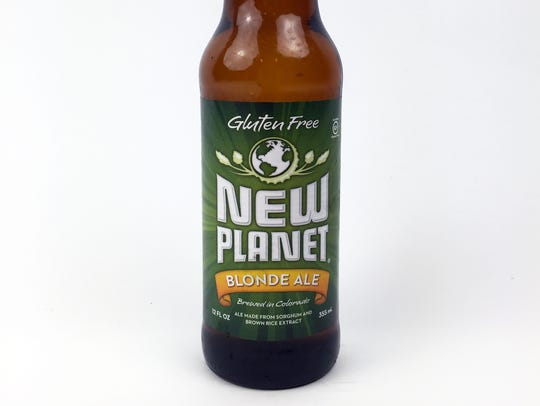 New Planet Blonde Ale, New Planet Beer Company, Boulder,
