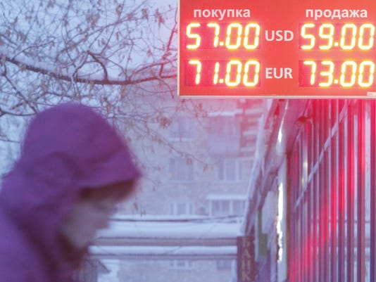 Russian rouble falls against US dollar and euro