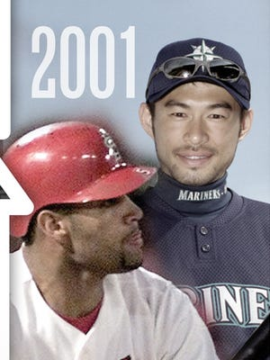 The 2001 Rookie of the Year tandem of Albert Pujols and Ichiro Suzuki remains active, while the 1967 Rod Carew-Tom Seaver combo is the only duo to earn first-ballot Hall of Fame recognition