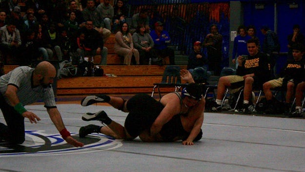 Mateo Messer in district competition in Hobbs, New Mexico.