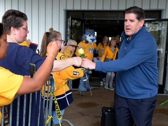 Nashville Predators head coach Peter Laviolette is