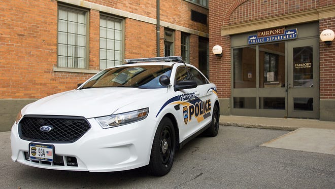 Fairport's first female patrol officer has filed a civil lawsuit alleging that she was discriminated against for being pregnant.