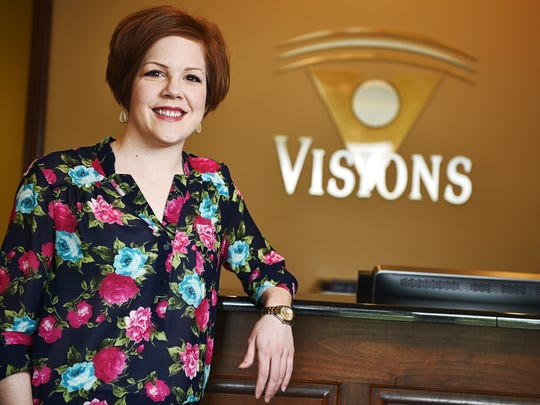 Doctor Ashley Gentrup, an optometrist at Visions Eye Care & Vision Therapy Center, poses for a portrait Thursday, May 19, 2016, at Visions Eye Care & Vision Therapy Center in Sioux Falls.
