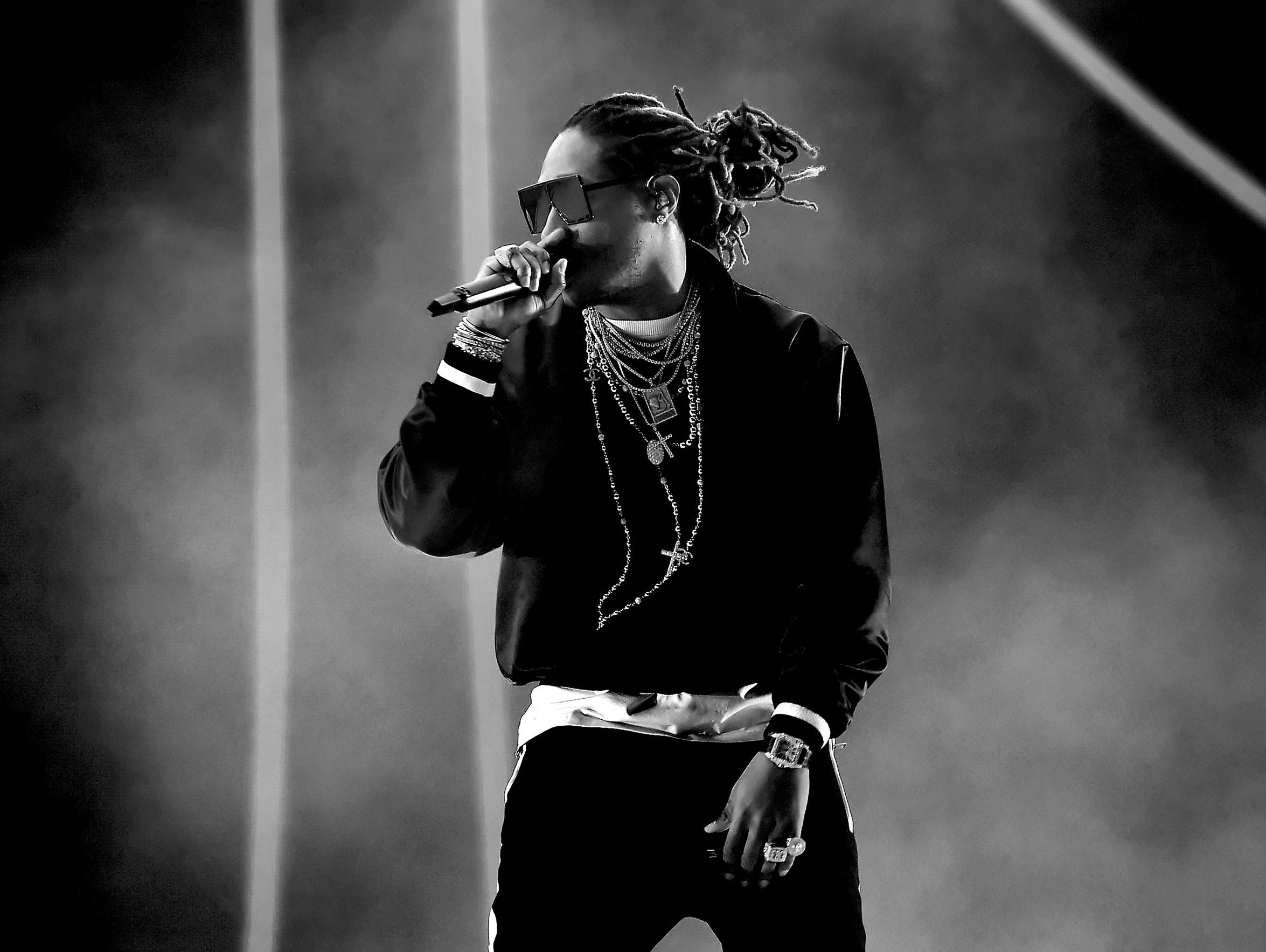 Rapper Future performs on the Coachella Stage during