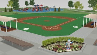 A rendering of the general Miracle Field setup.