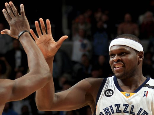 Memphis Grizzlies guard Tony Allen (9)  and Memphis