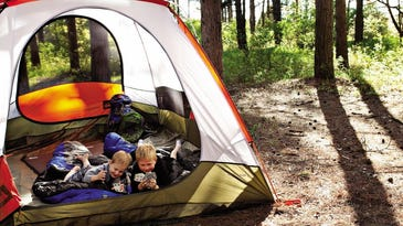 Pitch a tent among the pines at Kohler-Andrae State Park, which has 12 non-reservable campsites available for walk-ups.