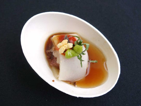 GOLD MEDAL: Cabeza dim sum pho with Mexican barbecued