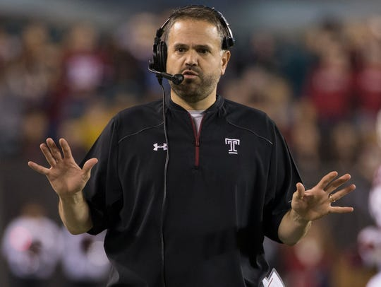 Temple coach and former Nittany Lion Matt Rhule will