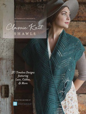 You'll find 20 classic knit shawl designs in this new book from Interweave, curated by Lisa Shroyer.