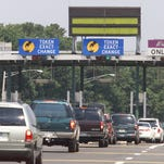 A Garden State Parkway toll plaza. A federal proposal to place tolls such as these on free highways to raise revenue won't work in New Jersey, state officials say.