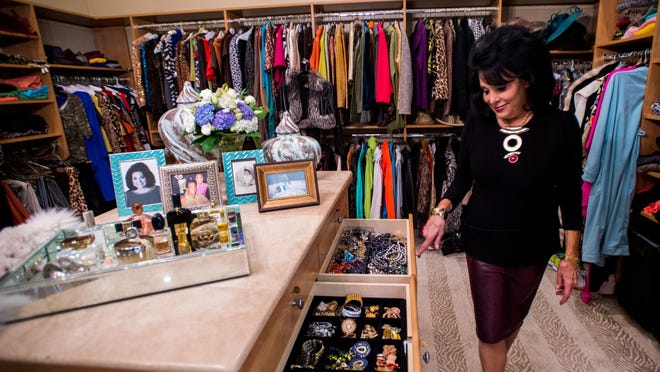 Sharon Moss at home in her uber fantastic closet is pictured in Lafayette, La., Tuesday, Nov. 10, 2015.