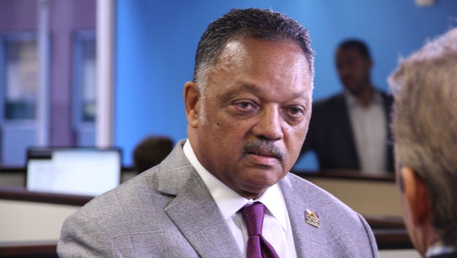 The Rev. Jesse Jackson stopped by USA TODAY's San Francisco bureau to talk about diversity in tech with reporter Marco della Cava