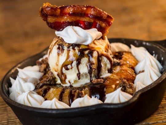For dessert, try the fried brownie and triple treat