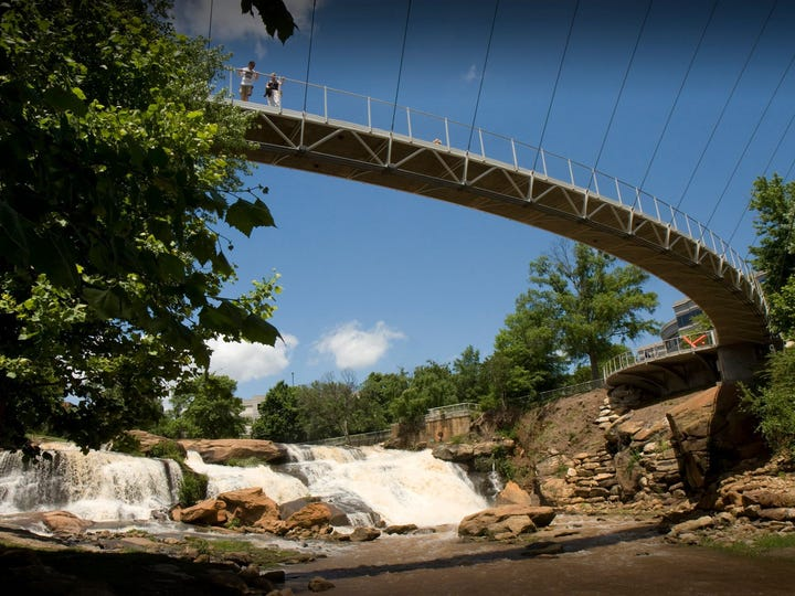 Falls Park has helped earn Greenville kudos in many national publications.