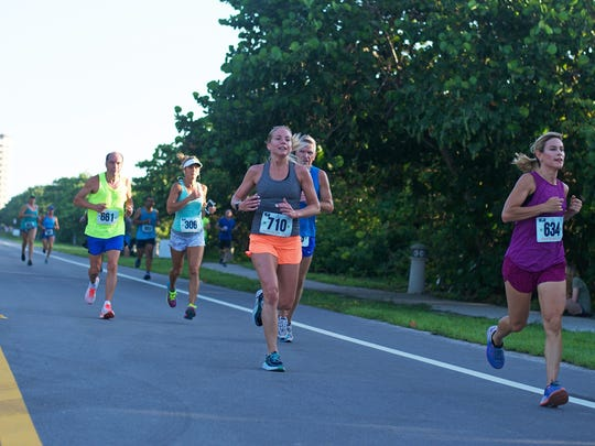 Participants in last year's Run 4 The Sea take part in a four-mile run for adults, supporting Loggerhead Marinelife Center's mission of sea turtle and ocean conservation.